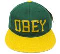 【SALE】 OBEY HANK ストラップバック 6パネルCAP グリーン