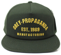 OBEY MFG 1989 スナップバック CAP フォレスト