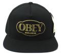 OBEY GLOBAL スナップバック CAP ブラック