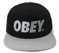 OBEY THE CITY スナップバックCAP ブラック/グレー