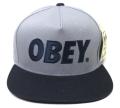 OBEY THE CITY スナップバックCAP ライトブルー/ネイビー