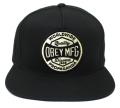 OBEY WORLDWIDE DISSENT スナップバックCAP ブラック