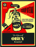 "OBEY ""DO IT YOURSELF"" ステッカー (大)"