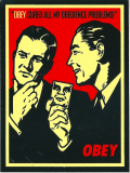 """OBEY """"CURED ALL"""" ステッカー (中)"""