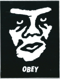 "OBEY ""FACE BLACK"" ステッカー (中)"
