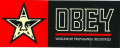 """OBEY """"INDUSTRIES"""" ステッカー (小)"""