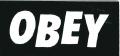 """OBEY """"FONT"""" ステッカー ブラック (小)"""
