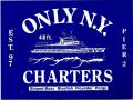 ONLY NY ''CHARTERS'' ステッカー ネイビー