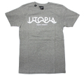 "HEKTIK ""UTOPIA ENDLESS INTERRAIL"" Tシャツ ヘザーグレー"