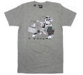 "HEKTIK ""FLYING FORTRESS"" Tシャツ ヘザーグレー"