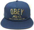 OBEY COMPANY スナップバック CAP インディゴ