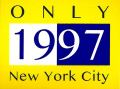 ONLY NY ''1997'' ステッカー イエロー