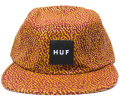 HUF  ''MEMPHIS BOX LOGO VOLLEY  '' 5パネルCAP ワイン