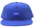 HUF  ''BOX LOGO  '' スナップバックCAP  ブルー