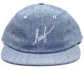 HUF  ''FIREFLY SCRIPT  '' 6パネル CAP ブルー