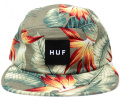 HUF  ''BIRDS OF PARADISE VOLLEY '' 5パネルCAP オリーブ