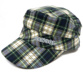 Kangol LINEN PLAID ARMY CAP グリーンチェック