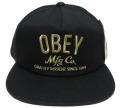 OBEY COMPANY スナップバック CAP ブラック