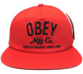 OBEY COMPANY スナップバック CAP レッド