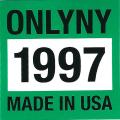 ONLY NY ''1997'' ステッカー グリーン