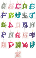 ARTSIDE 'A~Z' Casper ロゴ ピアス  ◆ BELTONカラー ※オーダーメイド