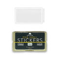 ''EGGSHELL STICKER'' Clear (Transparent) Line Border Blanks 50枚入り