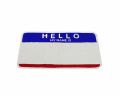 ''EGGSHELL STICKER'' Blue Red HELLO ラグマット