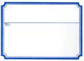 ブランクステッカー ブルーライン 20枚セット  【メール便可】