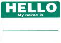 HELLO ステッカー グリーン 20枚セット