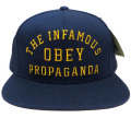 OBEY INFAMOUS スナップバック CAP ネイビー