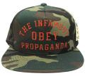 OBEY INFAMOUS スナップバック CAP カモ