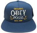 OBEY MARITIME スナップバック CAP ダスティネイビー