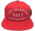OBEY INFAMOUS スナップバック CAP レッド