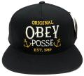 OBEY MARITIME スナップバック CAP ブラック