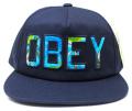 【SALE】 OBEY  ストラップバック CAP ''WHARF'' ネイビー