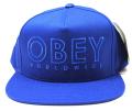 【SALE】 OBEY  スナップバック CAP ''DIVISADERO'' ストラップバック CAP ブルー