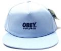 【SALE】 OBEY  スナップバック CAP ''PORTLAND'' ライトブルー