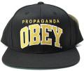 【SALE】 OBEY THROWBACK スナップバック CAP ブラック/ゴールド