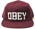 【SALE】 OBEY Stadium 5パネル CAP ヘザーバーガンディー