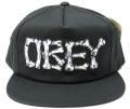 【SALE】 OBEY Brigade スナップバック CAP ブラック