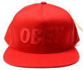 【SALE】 OBEY  スナップバック CAP ''THE CITY'' レッド