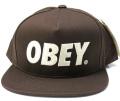 【SALE】 OBEY  スナップバック CAP ''THE CITY'' ブラウン
