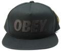 【SALE】 OBEY  スナップバック CAP ''THE CITY'' ジェットブラック