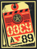 """OBEY """"ALL AREA"""" ステッカー (中)"""