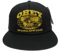 OBEY FLUSHING スナップバック CAP ブラック