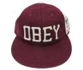 【SALE】 OBEY HANK ストラップバック フェルトワッペン CAP マルーン