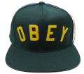 【SALE】 OBEY CORE スナップバック  CAP ダークグリーン