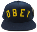 【SALE】 OBEY CORE スナップバック  CAP ネイビー