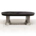 イタリア CAMELGROUP センターテーブル リビングテーブル 人気 ブラック シルバー 鏡面
