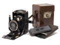 メーカー不明 折り畳みカメラ w/Trioplan 10.5cm4.5